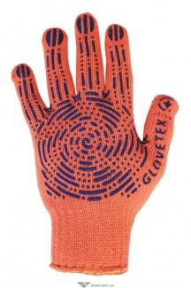 Перчатки трикотажные с ПВХ оранж платировка